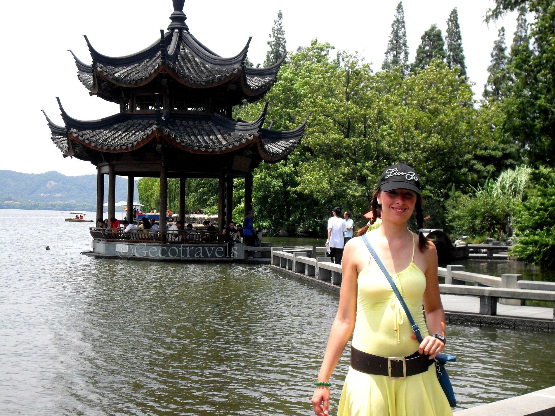 pagoda sul lago dell'ovest